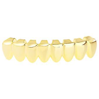 Grillz - guld - én størrelse passer alle - 8's bunden tænder