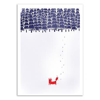 Plakat sztuki-sam w lesie-Robert Farkas 50 x 70 cm