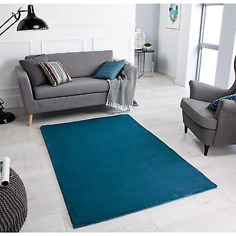 Comfy Teal  Rectangle Rugs Plain/Nearly Plain Rugs