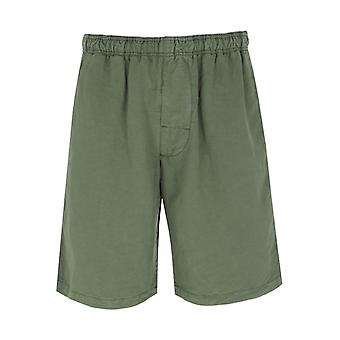 Edwin Chiba Military Green Dyed Shorts