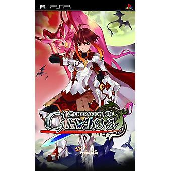 Génération du Chaos (PSP) - Usine scellée