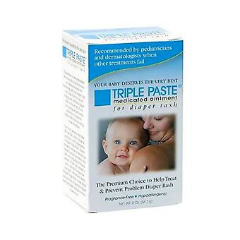 Triple paste medicated ointment for diaper rash, 2 oz