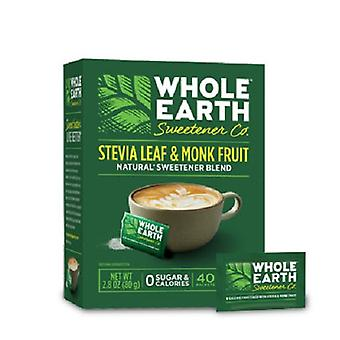 Whole Earth Stevia Leaf & Monk Fruit Packets 2 Pack