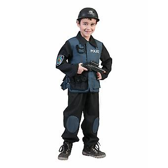 Police Special Forces Children's Costume Carnival Police Special Unit Carnival Carnival Carnival