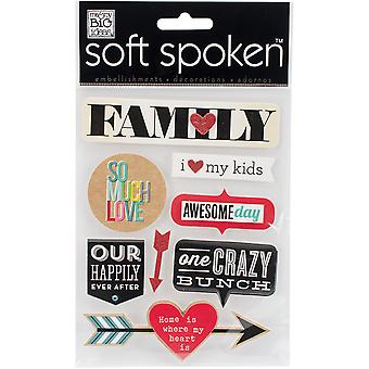 Soft Spoken Themed Embellishments-Family - So Much Love SS-1557