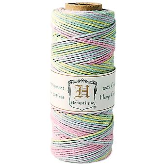Hemp Cord Spool Variegated 20# 205 Feet Pkg Baby Pastel Hs20va Bs