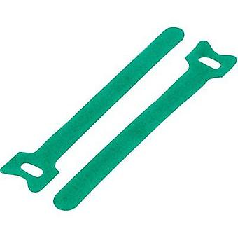 Velcro cable clips for bundling Hook and loop pad (L x W) 125 mm x 12 mm Green KSS MGT-125GN 1 pc(s)