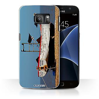 STUFF4 Case/Cover for Samsung Galaxy S7/G930/Rusty Boat/British Coast
