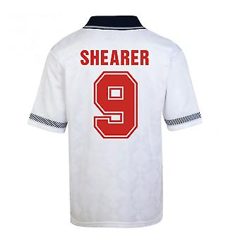 Score Draw England World Cup 1990 Home Shirt (Shearer 9)
