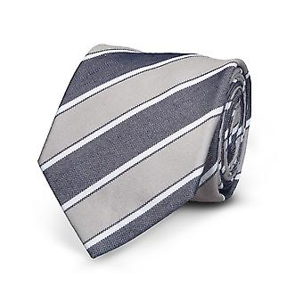 View tie silk silk tie grey striped special offer
