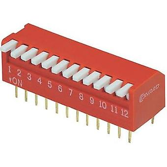 DIP switch Number of pins 12 Piano-type TRU COMPONENTS DP-12
