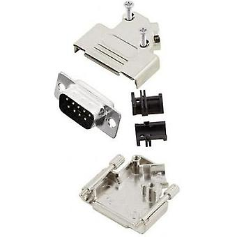D-SUB pin strip set 45 ° Number of pins: 9 Solder bucket MH Connectors MHD45ZK9-DB9P-K 1 pc(s)