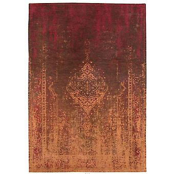 Distressed Mango Brown Medallion Flatweave Rug 230 x 230 - Louis de Poortere