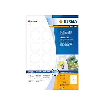 Labels white HERMA Movables Ø 40 A4 2400 pcs.