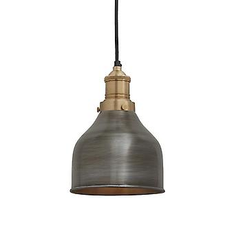 Brooklyn Vintage Small Metal Cone Pendant Light - Dark Pewter - 7
