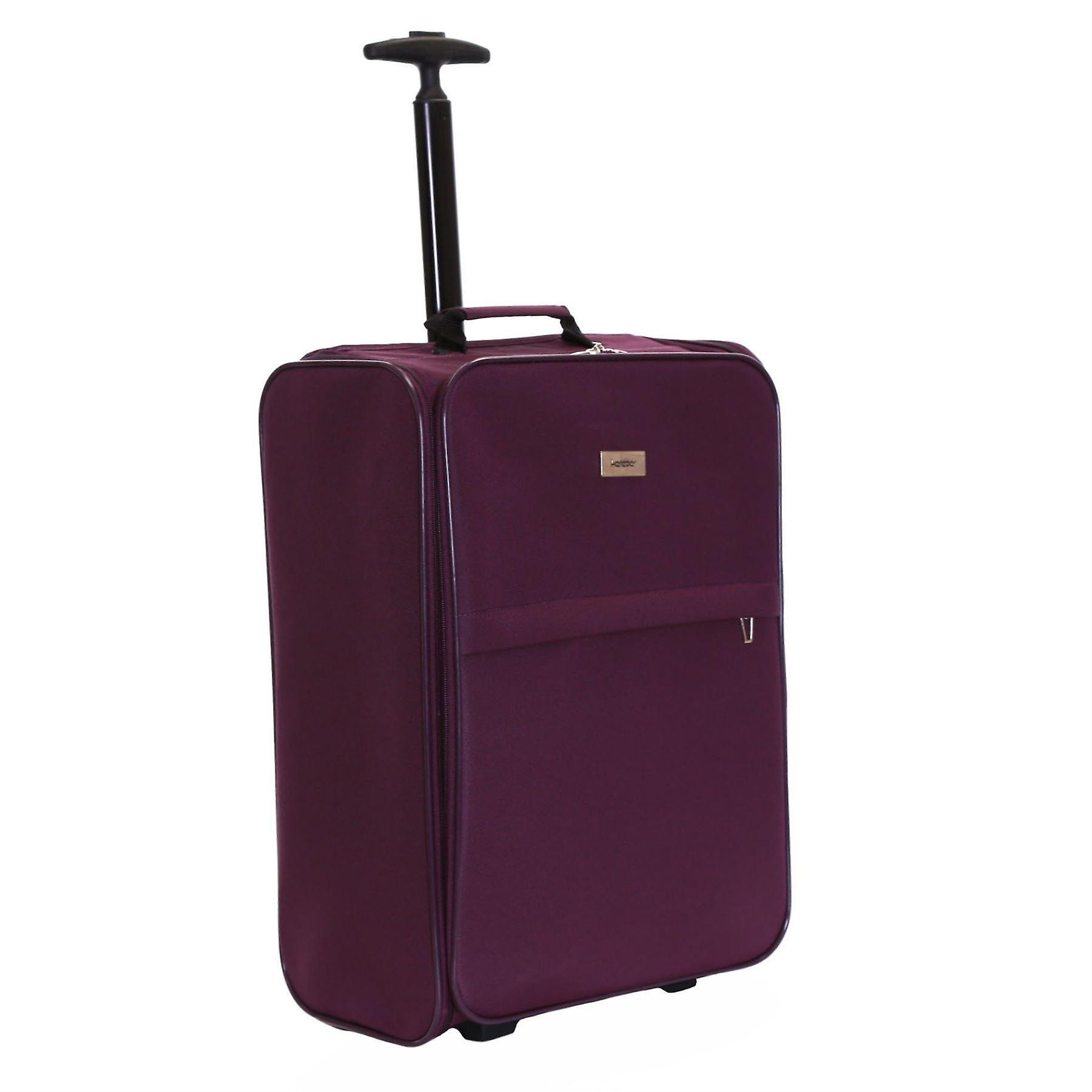 Karabar Trento Foldable Cabin Suitcase, Plum