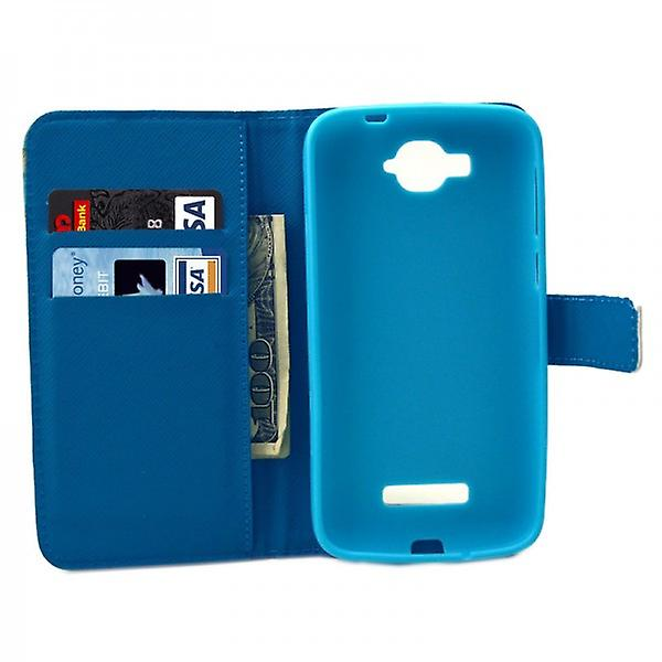 Pocket wallet premium model 43 for Alcatel one touch pop C7