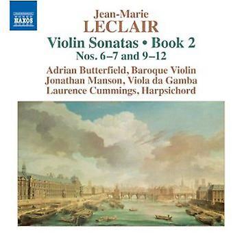 Leclair - Jean-Marie Leclair: Sonates pour violon, livre 2 nos importer des USA [CD] 6-7 et 9-12