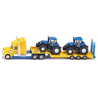 Siku Truck With New Holland  Tractors
