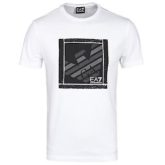 EA7 White Graphic Series Eagle Branded T-Shirt