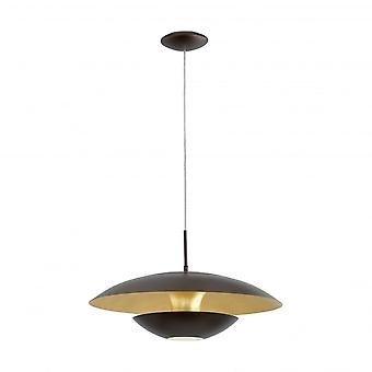 Eglo Nuvano Black And Gold Saucer LED Pendant Lamp