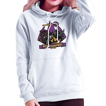 Pest Control Bebop og Rocksteady Teenage Mutant Ninja Skildpadder Sweatshirt med hætte til kvinder