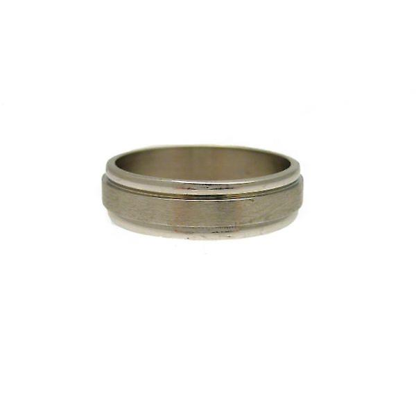 W.A.T Brushed Stainless Steel Men's Ring