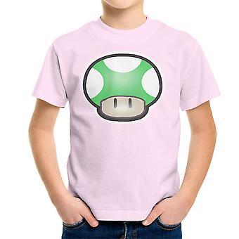Super Mario Mushroom Green Kid's T-Shirt