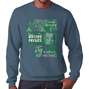 Knowledge Rules Breaking Bad Big Bang Theory Game of Thones Men's Sweatshirt