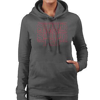 Stranger Things Should I Stay Or Should I Go Damen Sweatshirt mit Kapuze