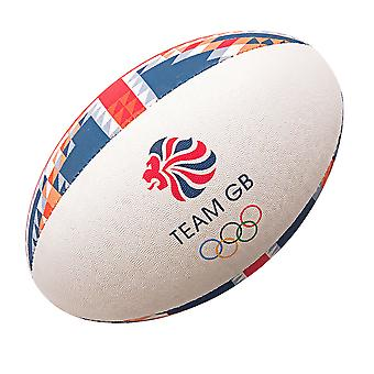 GILBERT Team GB offizieller Olympia Supporter Rugbyball [rot/blau]