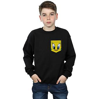 Looney Tunes jongens Tweety Pie Face Faux Pocket Sweatshirt