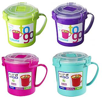 4 x Sistema Microwave Soup To Go Mugs VARIOUS COLOURS