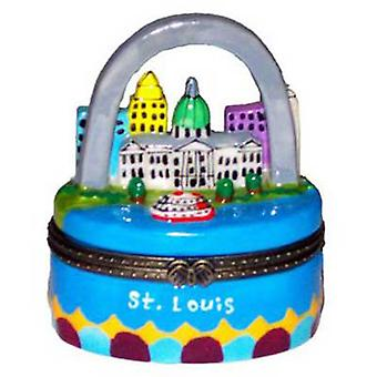 Gateway Arch St. Louis Missouri Porcelain Hinged Trinket Box