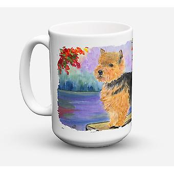 Norwich Terrier lave-vaisselle sûre pour micro-ondes céramique café tasse 15 oz