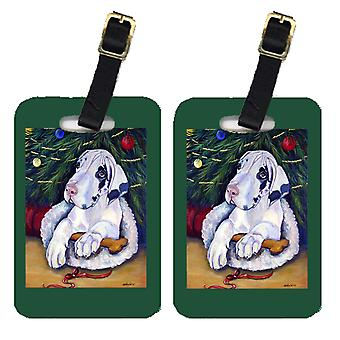 Carolines Treasures  7172BT Christmas Tree with Great Dane Luggage Tags Pair of