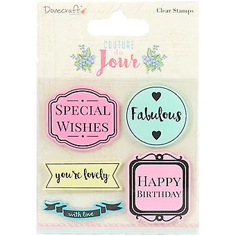 Dovecraft Couture du Jour Clear Stamps-Sentiments DCSTP082