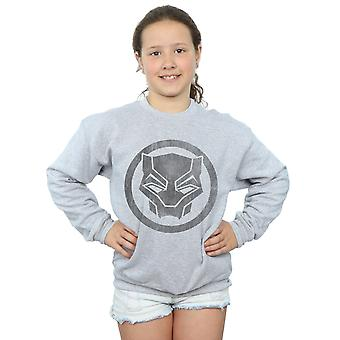 Marvel Mädchen Black Panther Distressed Symbol Sweatshirt