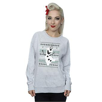Disney Women's Frozen Christmas Olaf Dance Sweatshirt