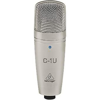 USB studio microphone Behringer C-1U Corded incl. clip, incl. cable