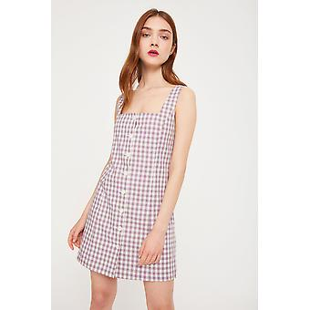 Side Party Gingham Button Up Dress