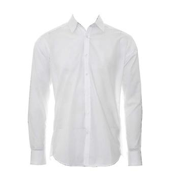 Kustom Kit Mens Slim Fit Business Shirt Long Sleeve
