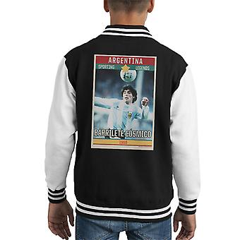 Sporting Legends Poster Argentina Diego Maradona World Cup 1960 Kid's Varsity Jacket