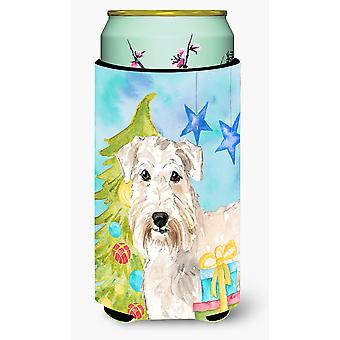 Árbol de Navidad Wheaten Terrier chico alto bebidas aislador Hugger