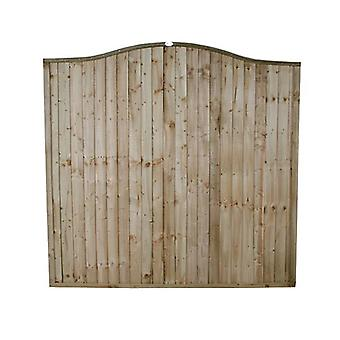 Forest Garden 6ft Pressure Treated Domed Top Wooden Fence Panel