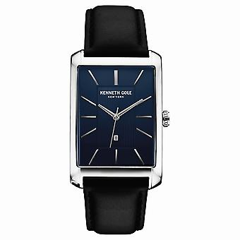 Kenneth Cole New York men's wrist watch analog quartz leather 10030830