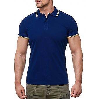 Men's Uni Polo-Shirt short-sleeved contrast with collar Basic