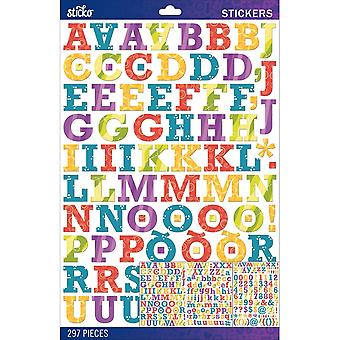 Sticko Alphabet Stickers-Patterned Rockwell Large