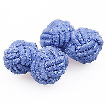 Light Blue Knot Cufflinks