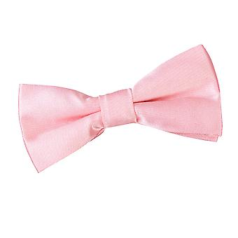Baby Pink Plain Satin Pre-Tied Bow Tie for Boys